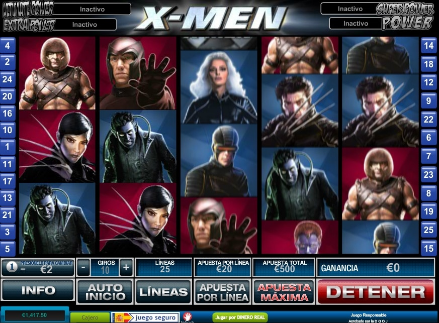 Tragaperra X Men apuesta deportiva luckia-449945