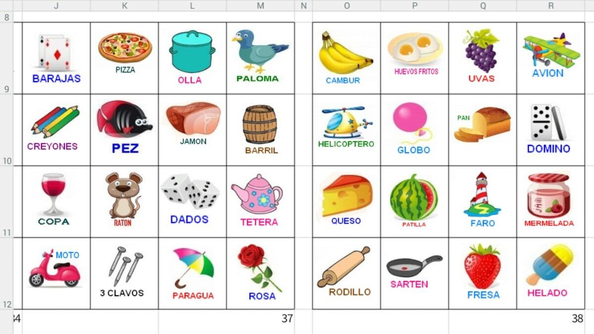 Calidad Mexico bingo cartones-755560