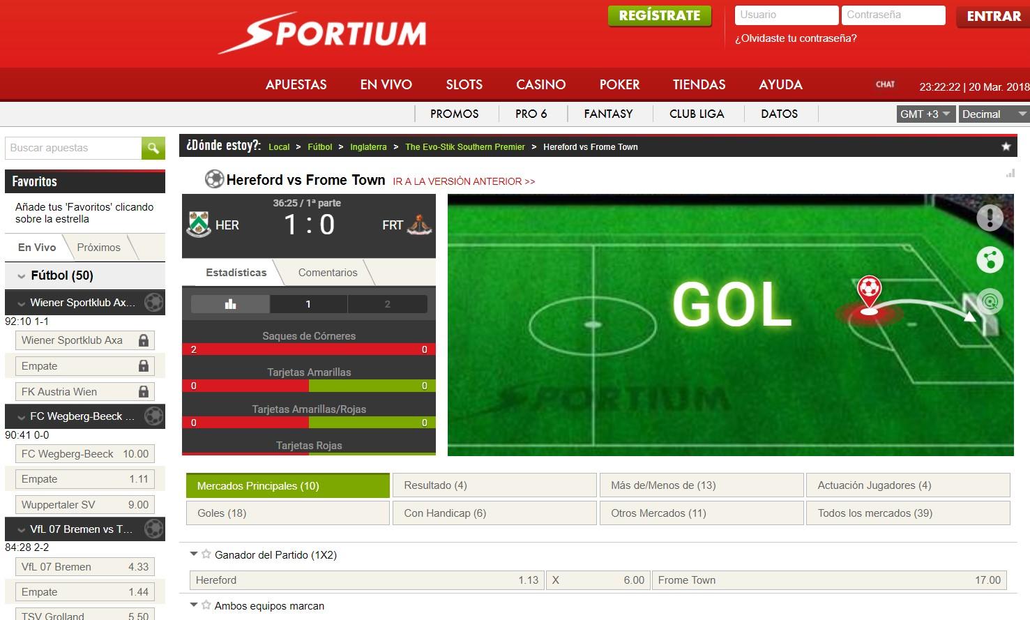 Sportium spain reseña de casino México-112939