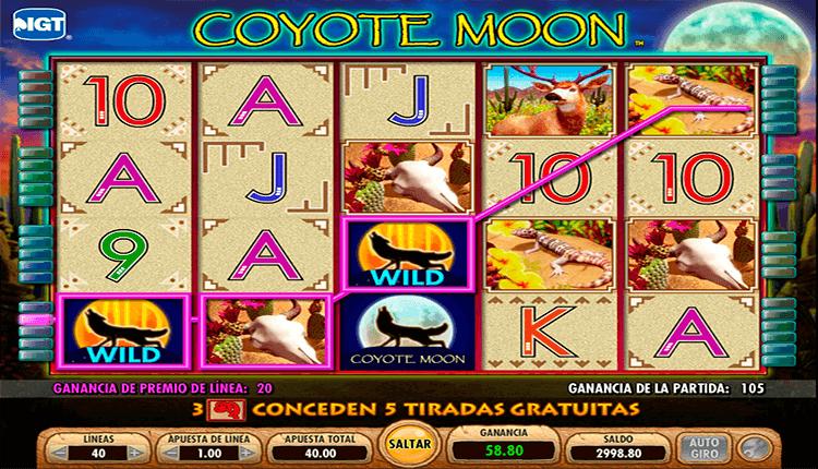 Bono Flash Wanabet tragamonedas sin descargar coyote moon-995485