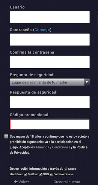 Bono de registro código Exclusivo-899520