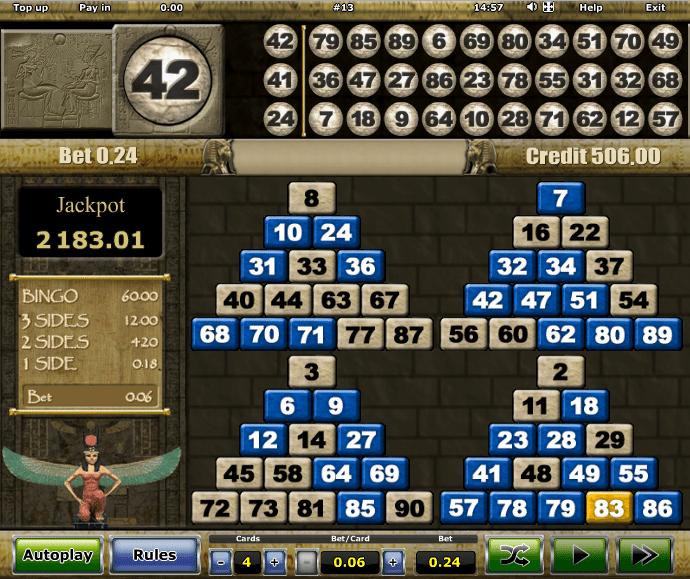 Bingo tombola online microgaming NetEnt-237170