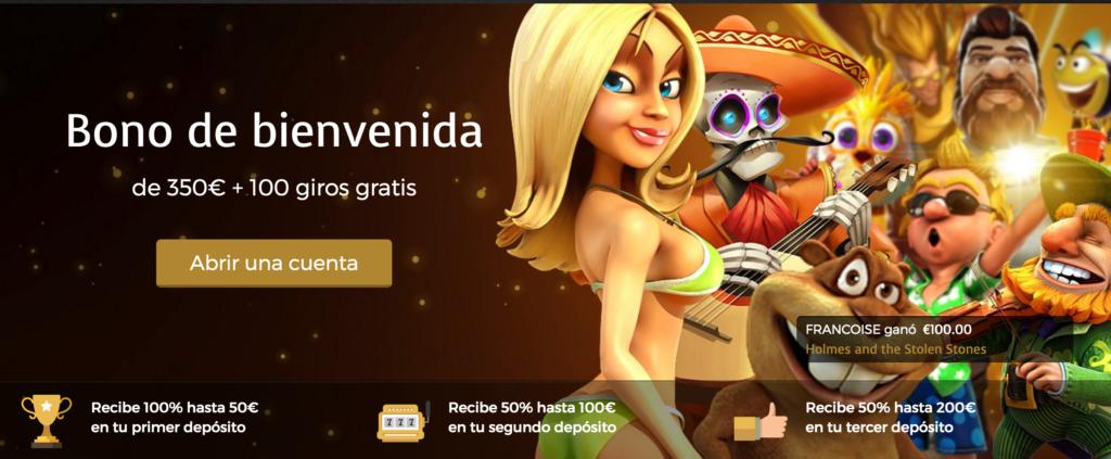 10 tiradas gratis en Mega Fortune bingo sin deposito-367801