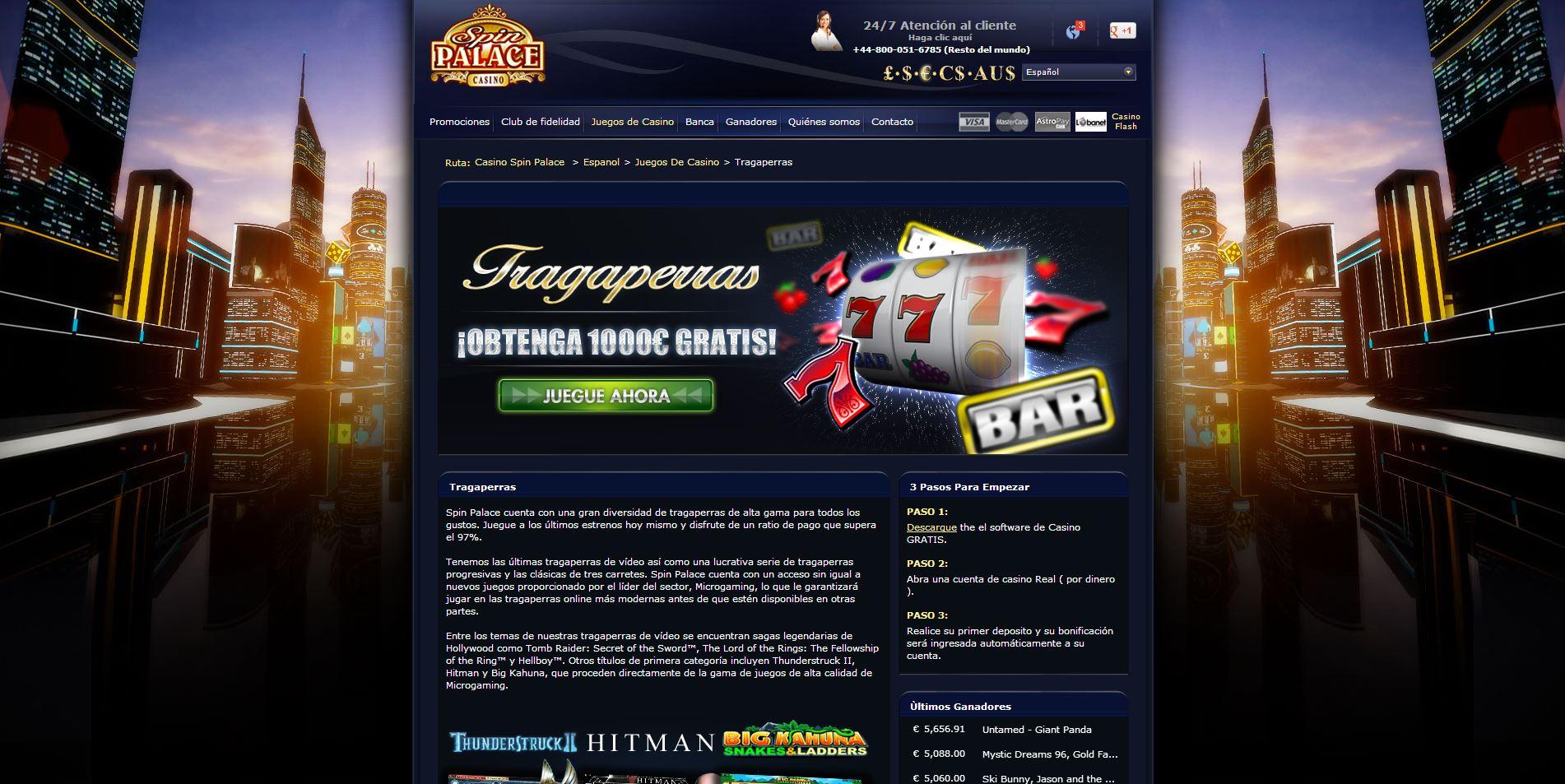 Casino que aceptan método de pago spin palace-509458