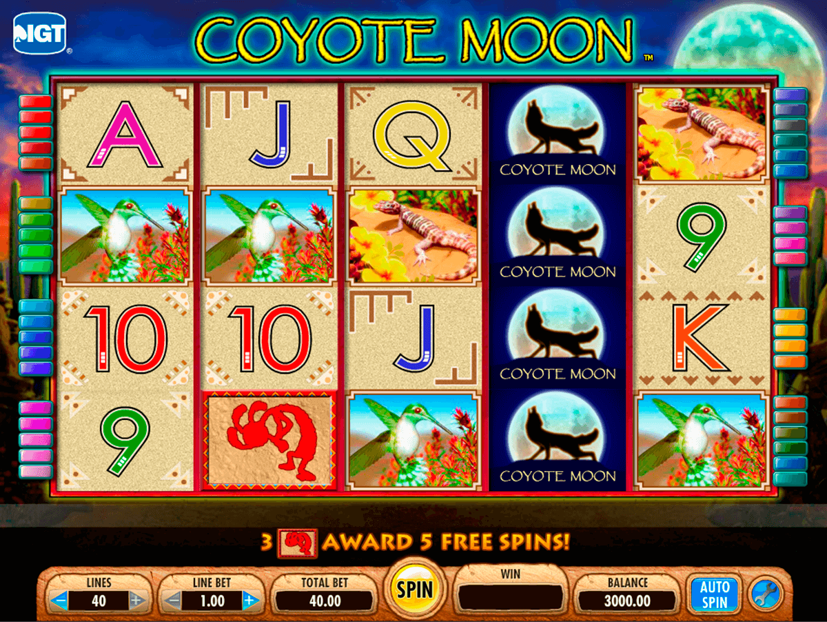 Casino gratis estrella tragamonedas Coyote Moon-848424