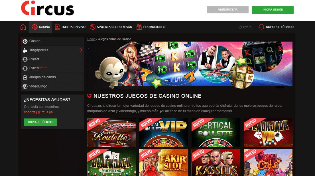 Circus apuestas online juegos casino gratis Colombia-661122