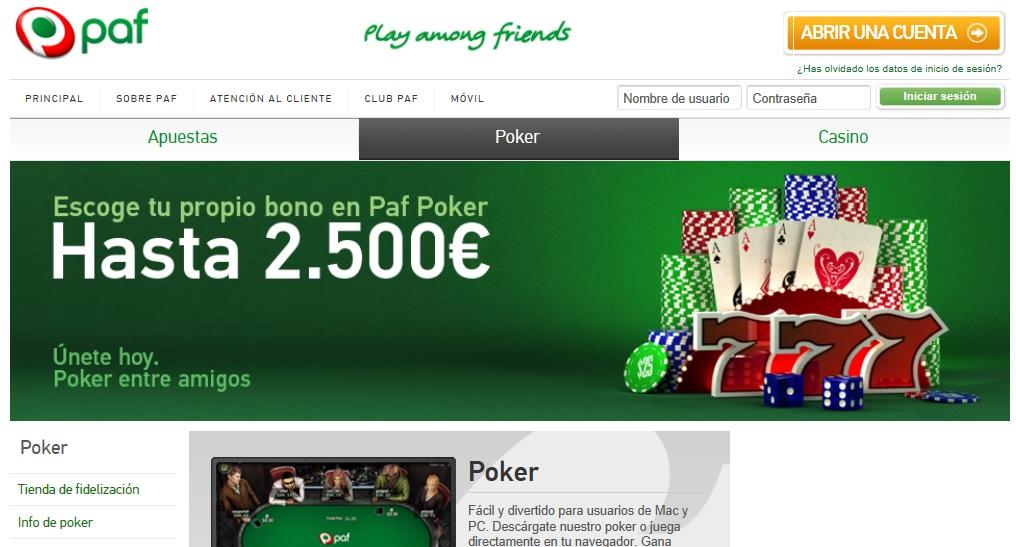 Www paf es qué es en apuestas póker-109470