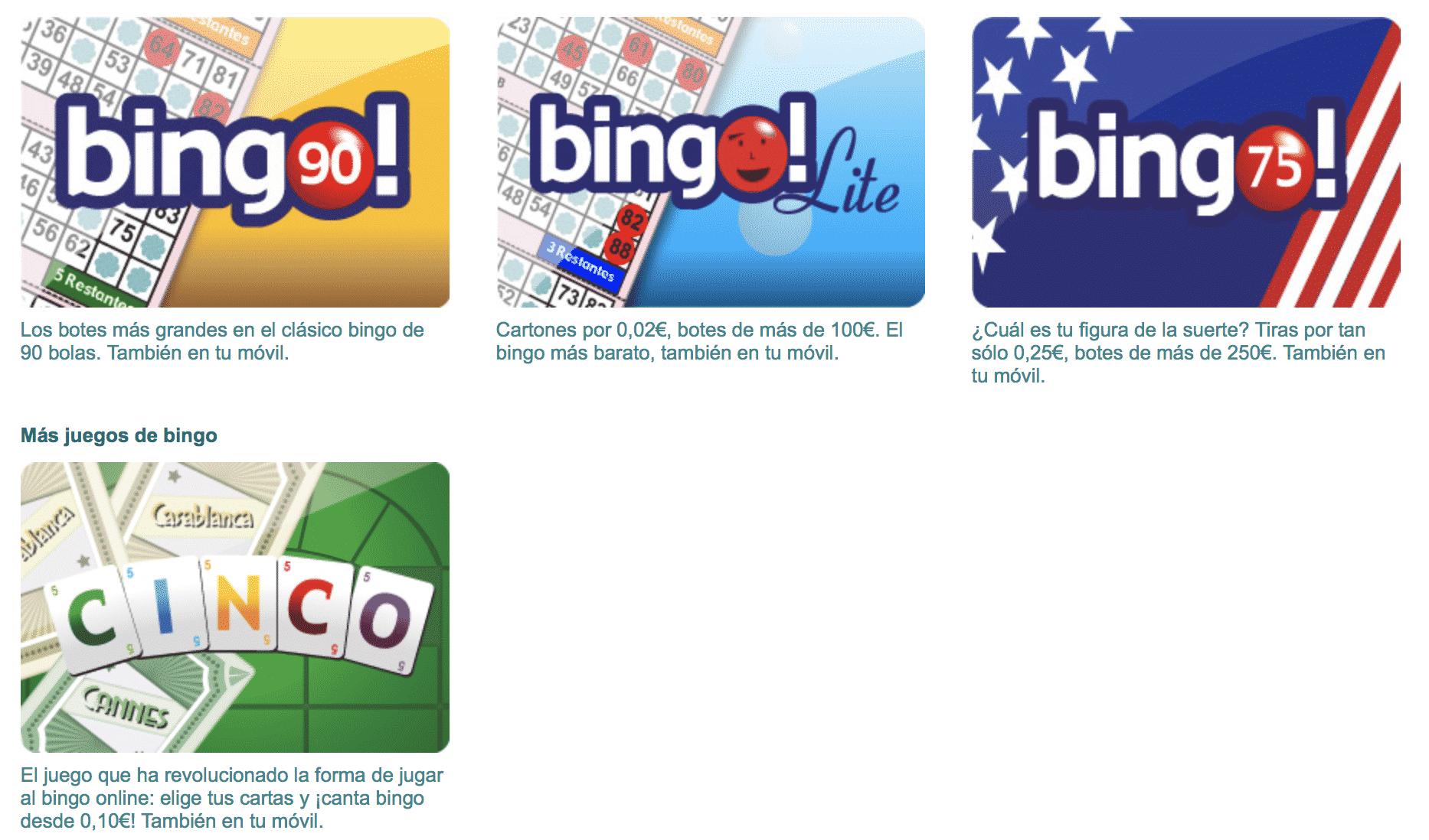 Bingo gratis sin deposito paysafecard por casino-255248