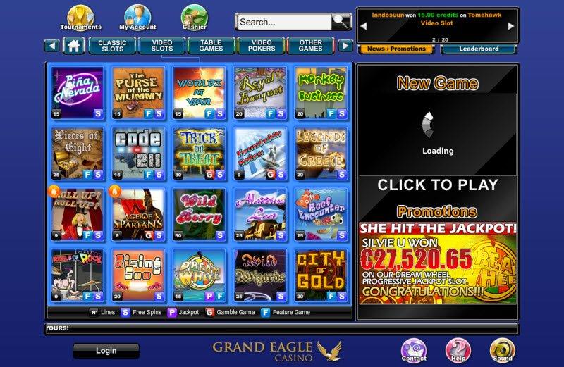 Casino online slotsMillion tragamonedas eagle-16682