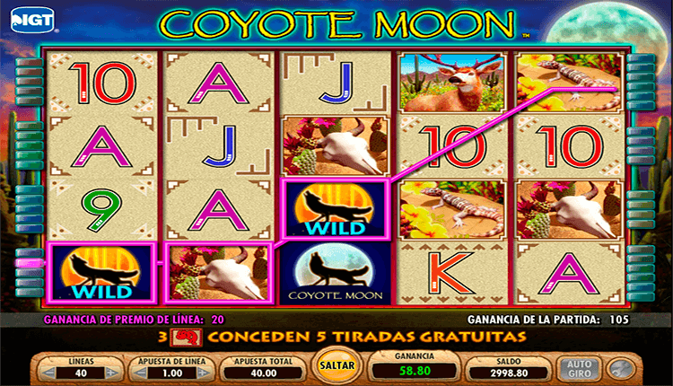Tragamonedas sin descargar coyote moon juego con créditos gratis-947043