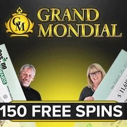 150 free spins grand mondial lotería Niño-108796