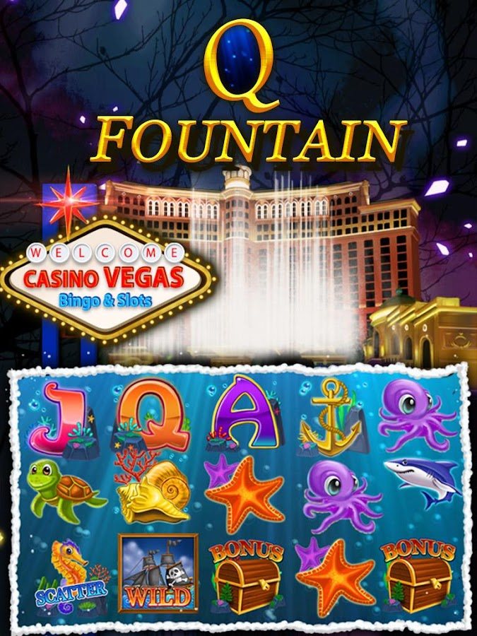 Slots of Vegas bingo cartones-220895