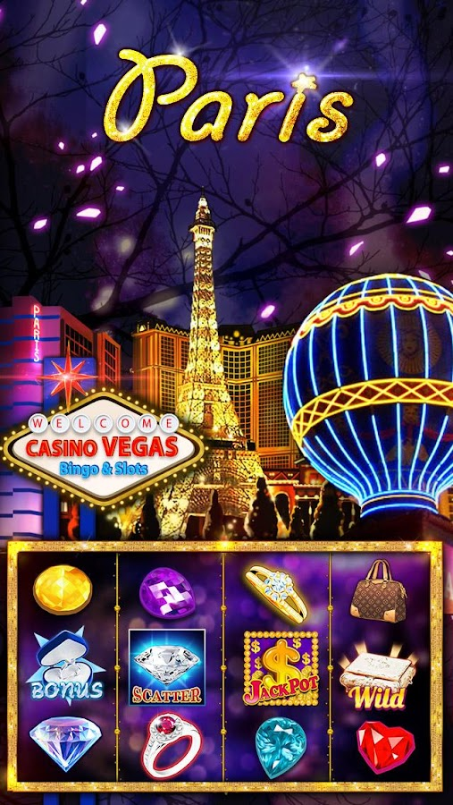 Slots of Vegas bingo cartones-384056